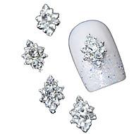 10pcs 3d σαφή διαμαντιών rhinestone λουλούδι DIY εξαρτήματα από κράμα νυχιών τέχνη διακόσμησης