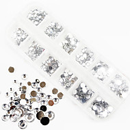 1200PCS AB Color Acrylic Diamond Nail Art Decorations 1.5/2/3/4/5/6 MM