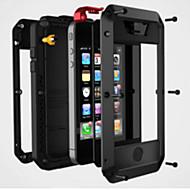 Недорогие Модные популярные товары-Кейс для Назначение iPhone 4/4S Apple Кейс на заднюю панель Твердый Металл для iPhone 4s/4