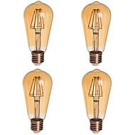 tanie Żarówki LED kulki-KWB 2200 lm E26/E27 Żarówki LED kulki ST64 4 Diody lED COB Przysłonięcia Dekoracyjna Ciepła biel AC 85-265V