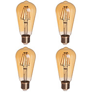 abordables Bombillas LED de Globo-e26 / e27 led bulbos de globo st64 4 mazorca 380lm blanco cálido 2200k regulable ac decorativo 85-265v