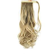 זול איפור וטיפול בציפורניים-נתפס עם קליפס קוקו לעטוף שיער סינטטי חתיכת שיער הַאֲרָכַת שֵׂעָר מתולתל גלי