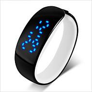 abordables Relojes Digitales-Pareja Reloj Deportivo Digital Resistente al Agua LED PU Banda Encanto Negro Azul Rojo Rose