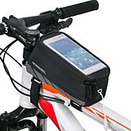 billige -ROSWHEEL Vesker til sykkelramme Mobilveske 4.8 tommers Vanntett Vanntett Glidelås Anvendelig Støtsikker Berøringsskjerm Sykling til