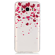 Недорогие Чехлы и кейсы для Galaxy J5-Назначение Кейс для  Samsung Galaxy Чехлы панели Прозрачный Кейс для С сердцем для