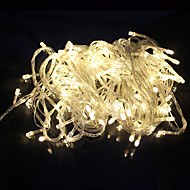 olcso LEDszalagfények-kültéri dekoráció húr fényű LED 10m 100 led AC220V / 110V eu 8 mód party kerti ünnep tündér fények