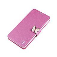 Для Samsung Galaxy Note Бумажник для карт / Стразы / со стендом / Флип Кейс для Чехол Кейс для Один цвет Твердый Металл SamsungNote 5 /