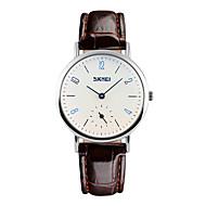 Недорогие Фирменные часы-SKMEI Жен. Кварцевый Наручные часы Защита от влаги / Cool Кожа Группа Мода Черный / Коричневый
