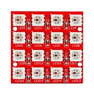 economico Accessori per Arduino-Keyes 2812-4 * 4 LED RGB full-color 16 luci modulo (rosso)