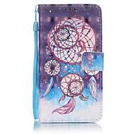 """Для Кейс для  Samsung Galaxy Бумажник для карт / Кошелек / со стендом / Флип Кейс для Чехол Кейс для Рисунок """"Ловец снов"""" Мягкий"""