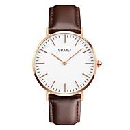 SKMEI Мужской Модные часы Защита от влаги Повседневные часы Кварцевый Японский кварц Кожа Группа Черный Коричневый