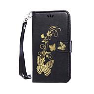 お買い得  携帯電話ケース-ケース 用途 ソニーZ5 Sony ソニーのXperia M5 ソニーのXperia XA Xperia Z5 Xperia XA Sonyケース カードホルダー ウォレット 耐埃 耐衝撃 スタンド付き フリップ フルボディーケース フラワー ハード PUレザー のために