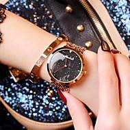 abordables Relojes de Moda-Mujer Reloj de Moda Cuarzo Japonés Reloj Casual Acero Inoxidable Banda Analógico Destello Oro Rosa - Negro Azul Rosa