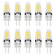 저렴한 -YouOKLight 10pcs 2W 150-200lm G4 LED Bi-pin 조명 T 6 LED 비즈 SMD 5733 장식 따뜻한 화이트 차가운 화이트 12V