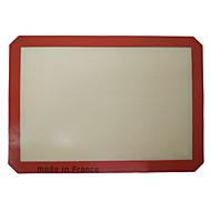 1Pc Silicone Baking Mat 42*29.5cm Non-Stick Silicone Baking Sheet Red