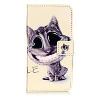 For Samsung Galaxy etui Kortholder Pung Med stativ Flip Etui Heldækkende Etui Kat Blødt Kunstlæder for Samsung J5 J3 J1 Mini J1 2015