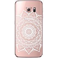 Недорогие Чехлы и кейсы для Galaxy S6 Edge Plus-Кейс для Назначение SSamsung Galaxy Samsung Galaxy S7 Edge Прозрачный С узором Кейс на заднюю панель Мандала Мягкий ТПУ для S7 edge S7 S6