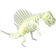 Oświetlenie LED Zestaw DIY Naklejki Puzzle Zabawki Dinozaur Fluorescencyjna Srebrzysty DIY Sztuk
