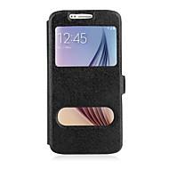 お買い得  Samsung 用 ケース/カバー-ケース 用途 Samsung Galaxy Samsung Galaxy Note スタンド付き / ウィンドウ付き / フリップ フルボディーケース ソリッド PUレザー のために Note 5 / Note 4 / Note 3