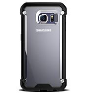 Недорогие Чехлы и кейсы для Samsung-Кейс для Назначение SSamsung Galaxy Samsung Galaxy S7 Edge Защита от удара / Прозрачный Кейс на заднюю панель броня Твердый ПК для S7 edge / S7 / S6 edge
