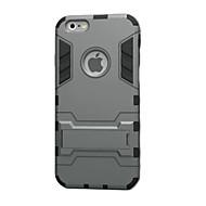 Недорогие Кейсы для iPhone 8 Plus-Кейс для Назначение Apple iPhone 8 iPhone 8 Plus iPhone 6 iPhone 6 Plus Защита от удара со стендом Кейс на заднюю панель броня Твердый ТПУ