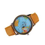 billige Pæne ure-Herre Quartz Japansk Quartz Kjoleur Verdenskort Mønster Afslappet Ur Læder Bånd Vedhæng Sort Hvid Brun Mangefarvet