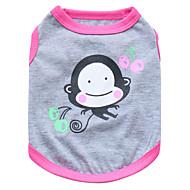 halpa -Kissa Koira T-paita Koiran vaatteet Eläin Musta Pinkki Puuvilla Asu Lemmikit Miesten Naisten Muoti