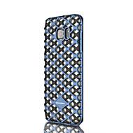 Для Samsung Galaxy S7 Edge Защита от удара / Прозрачный Кейс для Задняя крышка Кейс для Геометрический рисунок Мягкий Силикон SamsungS7