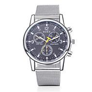 Недорогие Фирменные часы-SOXY Муж. Нарядные часы Кварцевый Повседневные часы Нержавеющая сталь Группа Кулоны Серебристый металл
