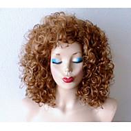 tanie Peruki-Peruki syntetyczne Kędzierzawy Naturalna linia włosów Gęstość Bez czepka Damskie Blond Karnawałowa Wig Halloween Wig czarna peruka