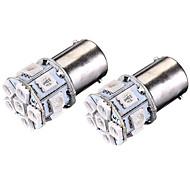 Недорогие Задние фонари-SO.K 2pcs BA15S (1156) Автомобиль Лампы 3 W SMD 5050 180 lm 13 Светодиодная лампа Задний свет For Универсальный