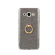 Недорогие Чехлы и кейсы для Galaxy J5(2016)-Кейс для Назначение SSamsung Galaxy Кейс для  Samsung Galaxy Кольца-держатели Кейс на заднюю панель Сияние и блеск Мягкий ТПУ для J7 (2016) / J5 (2016) / J3 (2016)
