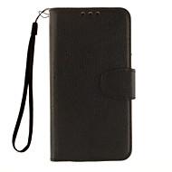 お買い得  携帯電話ケース-ケース 用途 LG LG K7 LGケース カードホルダー ウォレット スタンド付き フリップ フルボディーケース 純色 ハード PUレザー のために LG G4スタイラス/ LS770 LG G Flex 2