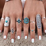 baratos Anéis-Mulheres Anéis para Falanges - Prata Chapeada, Turquesa, Liga Personalizada, Vintage, Boêmio 7 Prata Para Casamento / Festa / Presente