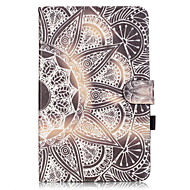 Недорогие Чехлы и кейсы для Galaxy Tab A 9.7-Кейс для Назначение SSamsung Galaxy Вкладка 9,7 Кейс для  Samsung Galaxy Бумажник для карт Кошелек со стендом Флип С узором Чехол Мандала