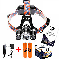U'King ZQ-X825 Lampes Frontales Sangle de Lampe Frontale Phare LED 8500ML lm 4.0 Mode Cree XM-L T6 Faisceau Ajustable Rechargeable Taille
