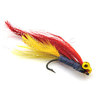 "tanie Akcesoria wędkarskie-4 szt Návnady Muchy Miękka przynęta g / Uncja, 45 mm / 1-3/4"" cal, Pokryte piórami Nylon Stal niestopowa Sea Fishing Fly Fishing General"