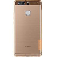 Недорогие Чехлы и кейсы для Huawei Honor-Для Кейс для Huawei P9 P9 Lite Mate 8 Защита от удара Ультратонкий Прозрачный Кейс для Задняя крышка Кейс для Один цвет Мягкий TPU для
