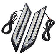 お買い得  -exLED 2pcs 車載 電球 24 W SMD 5630 500 lm 66 LED 昼間走行灯 用途