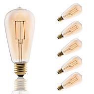 E26/E27 フィラメントタイプLED電球 ST64 2 LEDの COB 装飾用 アンバー 180lm 2200K 交流220から240V
