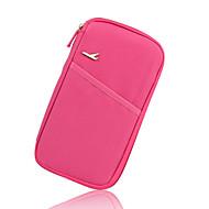 お買い得  トラベル小物-旅行用ウォレット 携帯式 のために 小物収納用バッグローズ グリーン ブルー ピンク ワイン