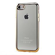 Недорогие Кейсы для iPhone 8 Plus-Кейс для Назначение Apple iPhone X / iPhone 8 / iPhone 7 Покрытие / Прозрачный Кейс на заднюю панель Однотонный Мягкий ТПУ для iPhone X / iPhone 8 Pluss / iPhone 8
