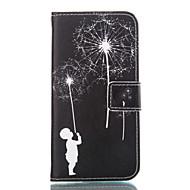 Недорогие Чехлы и кейсы для Galaxy A7(2016)-Кейс для Назначение SSamsung Galaxy Кейс для  Samsung Galaxy Бумажник для карт Кошелек со стендом Чехол Мультипликация Мягкий Кожа PU для