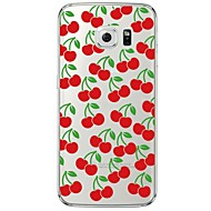 olcso Galaxy S4 tokok-Mert Samsung Galaxy S7 Edge Átlátszó / Minta Case Hátlap Case Gyümölcs Puha TPU SamsungS7 edge / S7 / S6 edge plus / S6 edge / S6 / S5 /