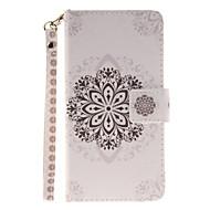 Для Кейс для  Samsung Galaxy Кошелек / Бумажник для карт / Флип / С узором Кейс для Чехол Кейс для Мандала Твердый Искусственная кожа