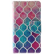For HTC etui Kortholder / Pung / Med stativ / Flip Etui Heldækkende Etui Geometrisk mønster Hårdt Kunstlæder HTC HTC Desire 626