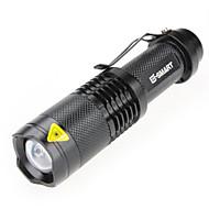 Lampes Torches LED Lampes de poche Laser 1000 lm 3 Mode - LED Mini Imperméable Fonction Zoom pour Camping/Randonnée/Spéléologie Usage