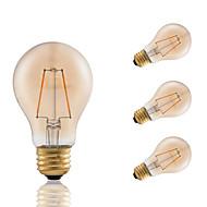 お買い得  -3W E26 フィラメントタイプLED電球 A60(A19) 2 COB 160 lm アンバー 調光可能 装飾用 AC 110-130 V 4個