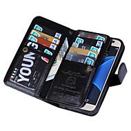 Недорогие Чехлы и кейсы для Galaxy S7-SHI CHENG DA Кейс для Назначение SSamsung Galaxy Samsung Galaxy S7 Edge Кошелек Чехол Сплошной цвет Кожа PU для S7 edge / S7 / S6 edge