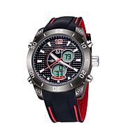 ASJ Herre Sportsklokke Digital Watch Japansk LCD Kompass Kalender Vannavvisende Dobbel Tidssone Selvlysende StoppeklokkeDigital Japansk